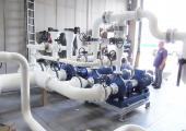 Connection piping pre-prepared for inspection